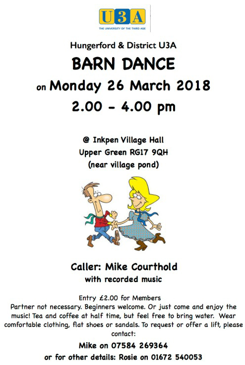 Barn Dance 26 March